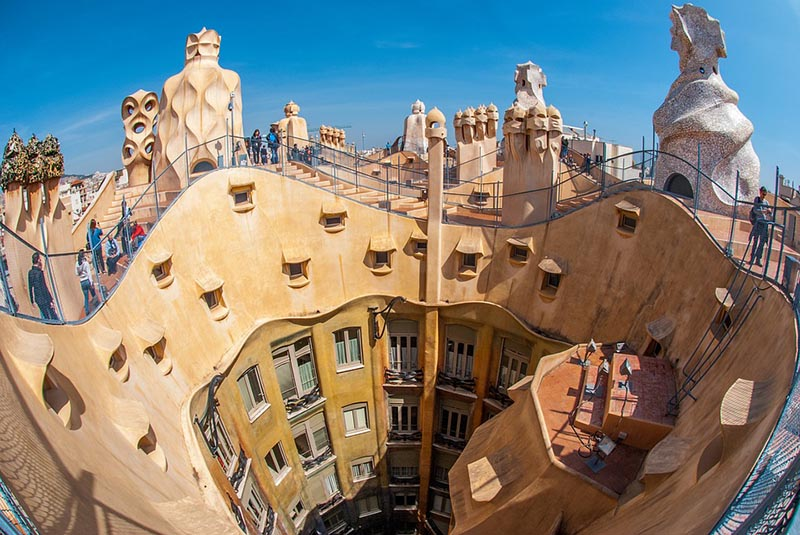 Building designed by Gaudi